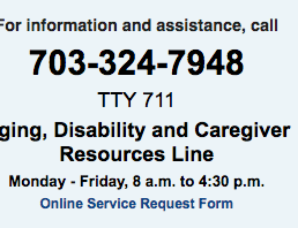 Fairfax County Services for Older Adults and Their Caregivers